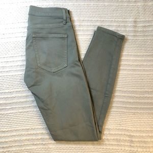 GAP sage green skinny jeans